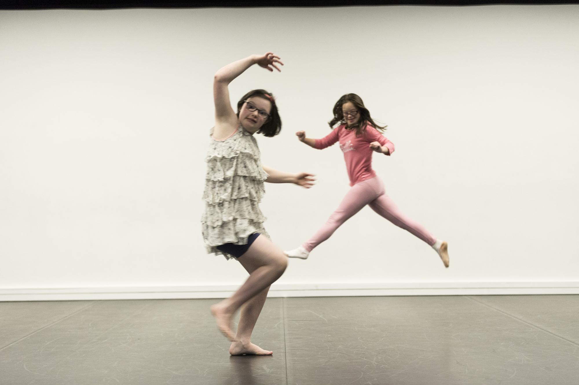 Two dancing kids